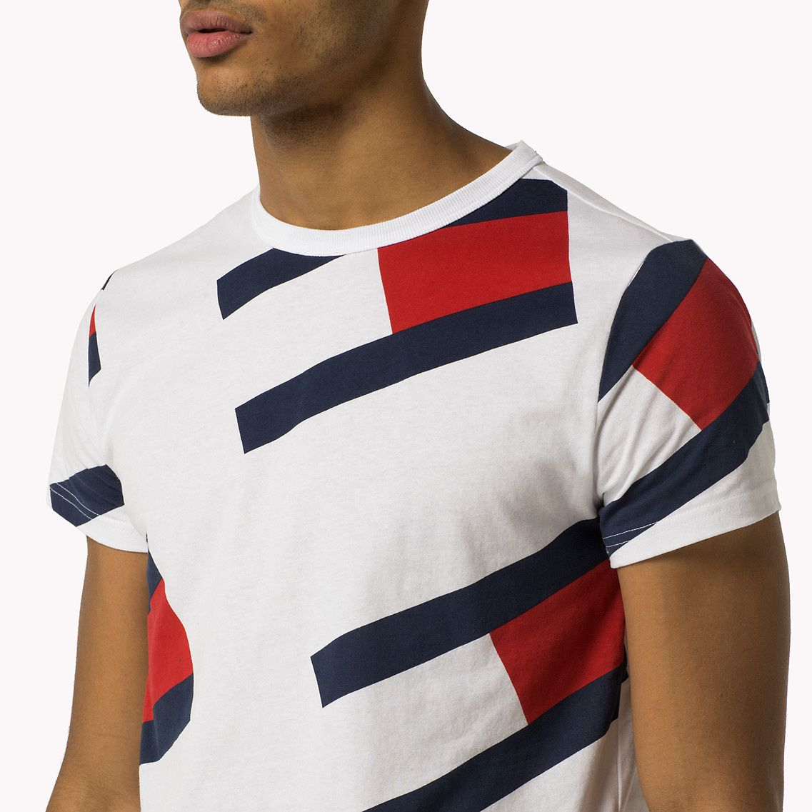 Shop The White All Over Flag T Shirt And Explore The Tommy Hilfiger T Shirts Collection For Men Free Returns Amp Tommy Hilfiger Tommy Hilfiger T Shirt Tommy