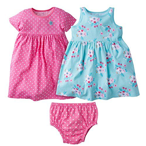 d36b7fc647a8 Gerber Baby Toddler Girls  3 Piece Dress Set