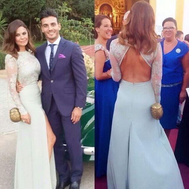 maria jose suarez. haute couture. wedding dress. light blue dress