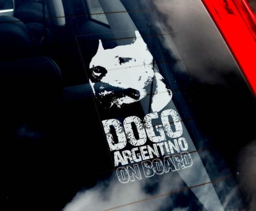 Dogo Argentino Dog Car Window Sticker Argentine Mastiff Sign