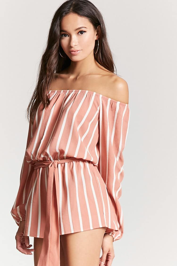 9ec6d003d7eb Product Name:Striped Off-the-Shoulder Romper, Category:dress, Price:15.9