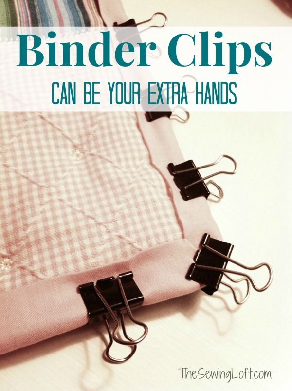 Binding your quilt with school supplies | Lofts, Binder clips and ... : quilting tools and supplies - Adamdwight.com