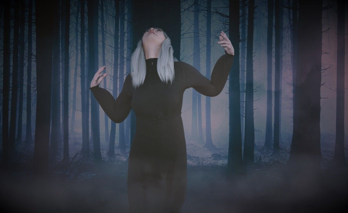 صورة عالية الدقة خالية من الغابات والإناث والظلام ظاهرة في الغلاف الجوي الأزرق الظلام Ligh Photo Concert