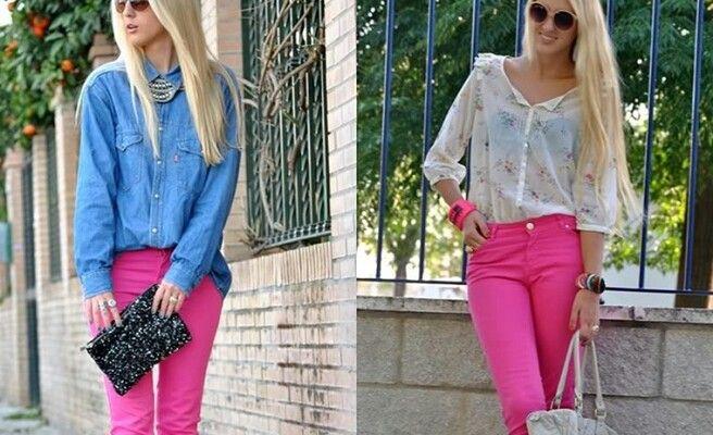 031191022b Ideas de como combinar un pantalón rosa o fucsia 3