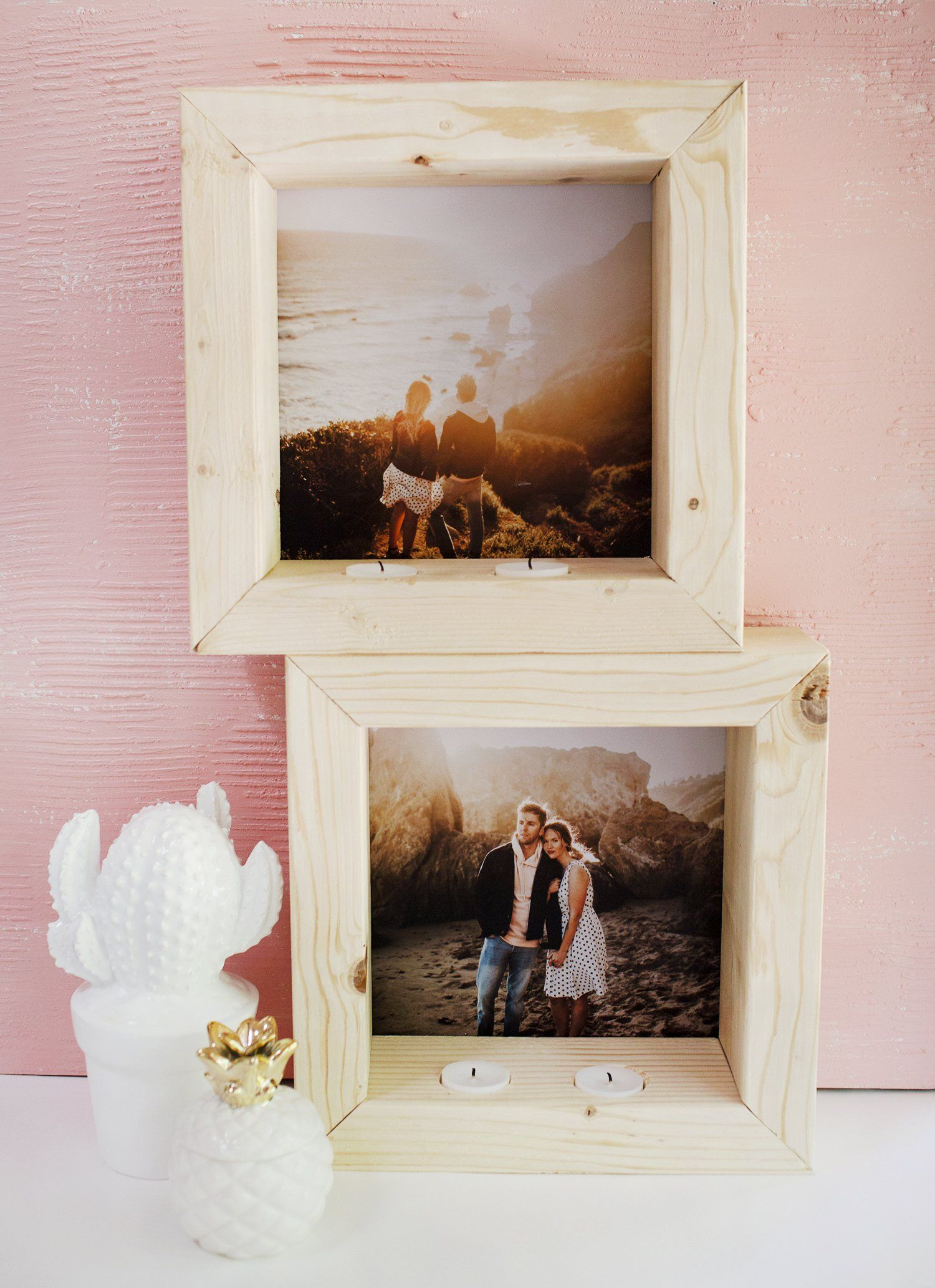 DIY Tea Light Photo Frame | Pinterest
