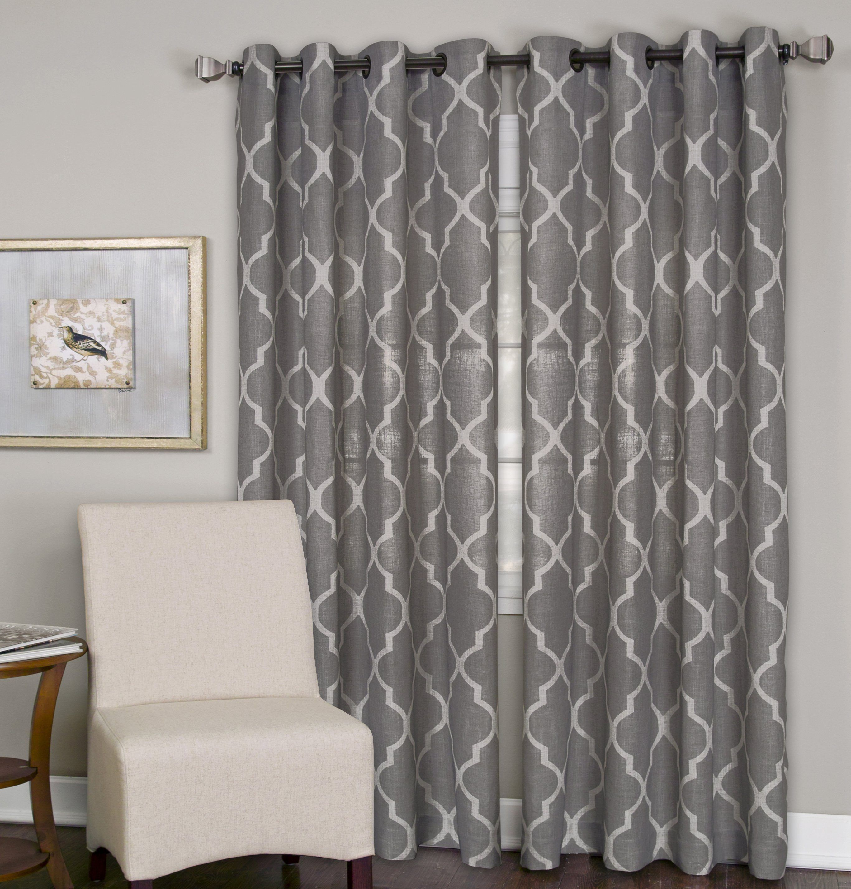 Medalia Extra Long 120 Length Window Curtain Panel Drapes