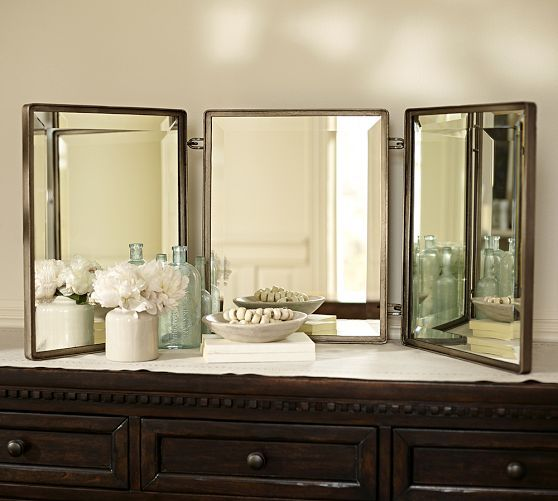 Trinity Triptych Mirror Pottery Barn Susan Vanity