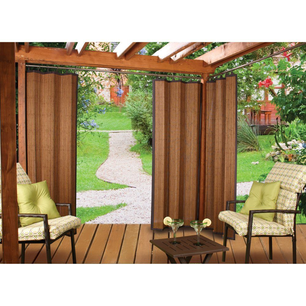 Versailles Patented Ring Top Bamboo Panel Indoor Outdoor