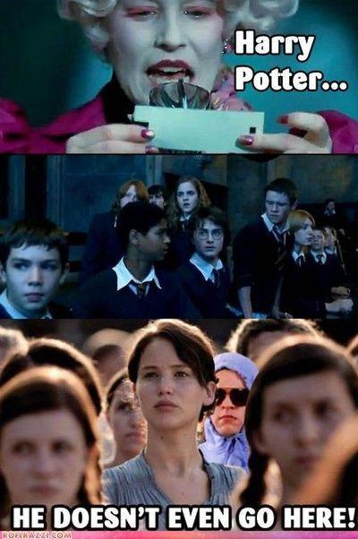 Harry Potter Means Girls And Hunger Games In One Meme I Find It Super Funny Hunger Games Humor Hunger Games Movie Memes