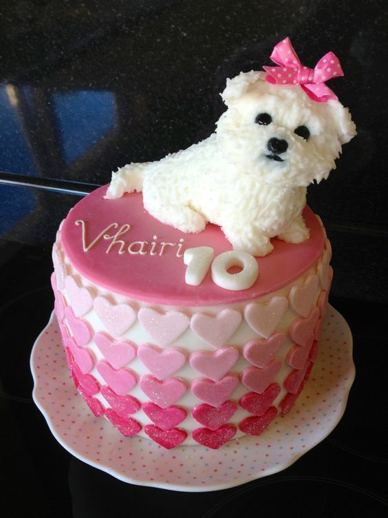 Awesome Maltese Dog Cakes And Cupcakes Designs With Images Dog Cakes Personalised Birthday Cards Veneteletsinfo