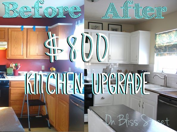 Awesome Kitchen Transformation For Under 1000 Countertops Home Improvement Cabinets Design Shelving Ideas