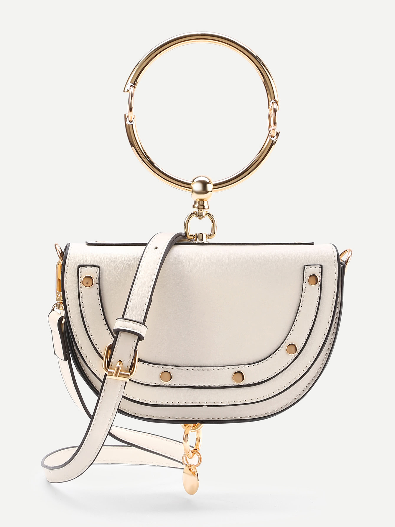 34b45992 Half Moon Shaped Crossbody Bag With Ring Handle | clothez/inspo in ...