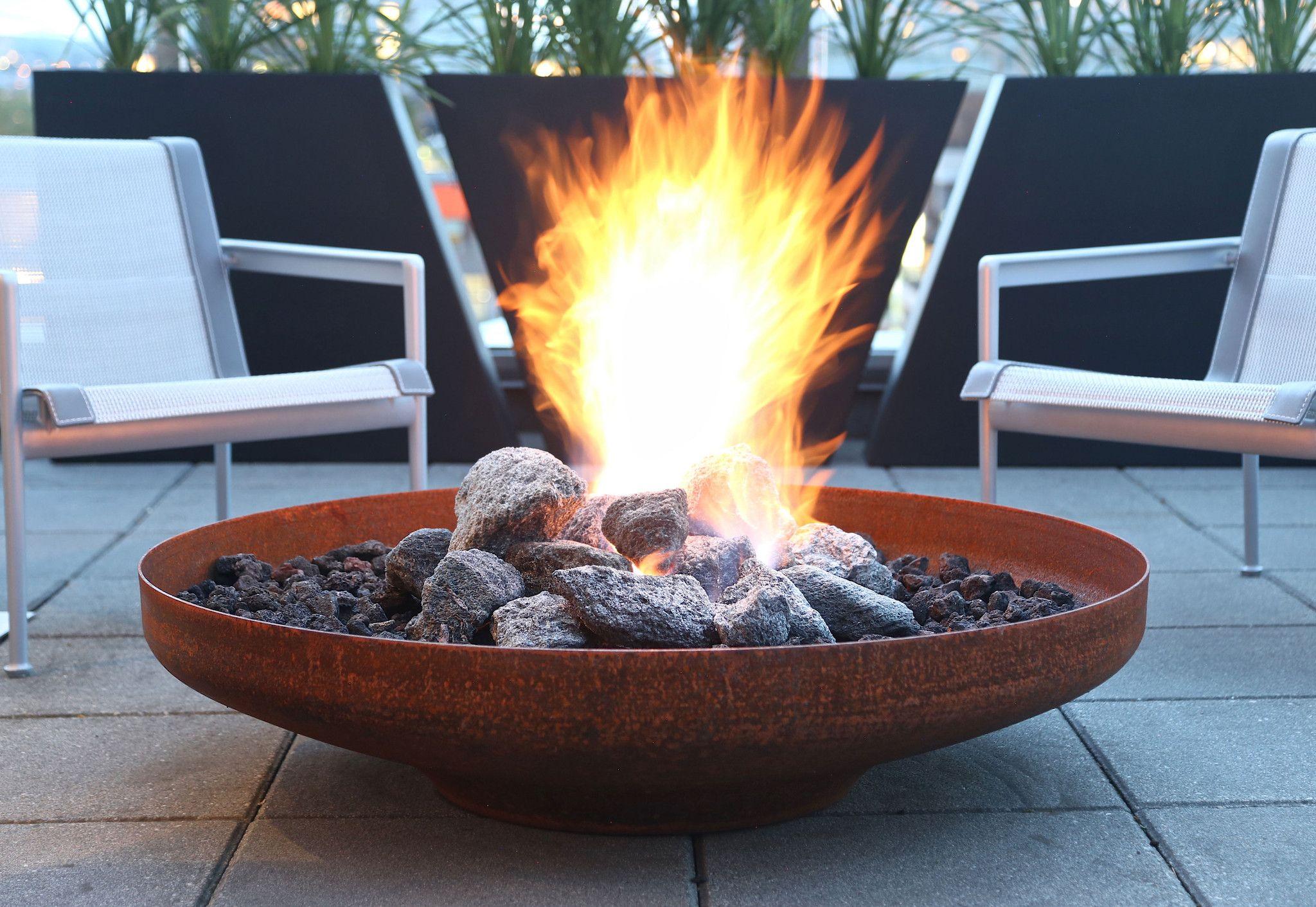Flango xl fire bowl planter fire bowls diy gas fire