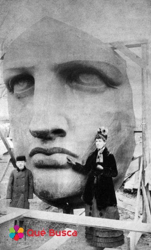La cara de la Estatua de la Libertad