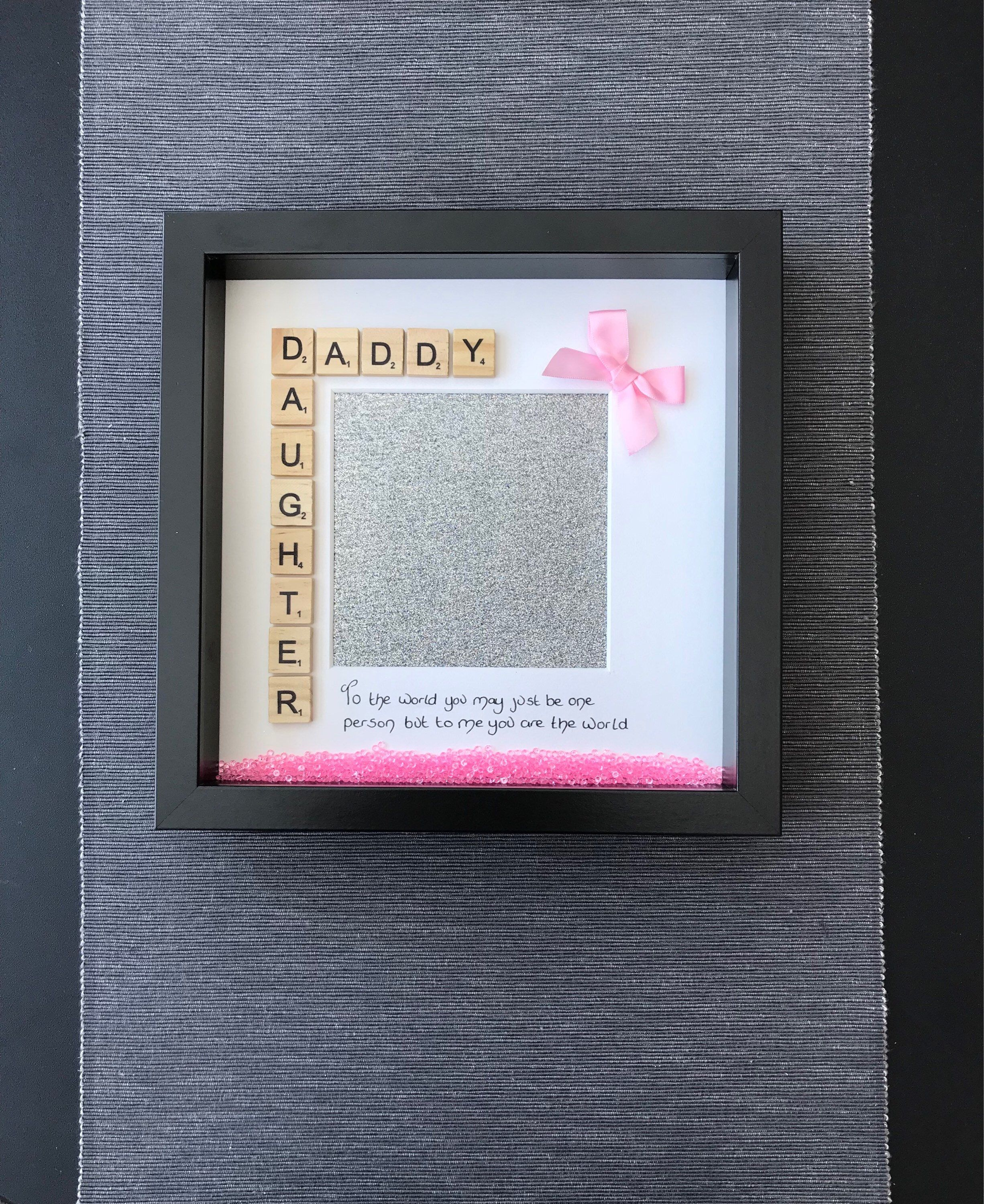 Father\'s Day handmade box photo frame - Daddy Daughter photo frame ...