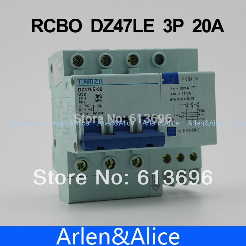3p 20a 400v residual current circuit breaker with over current and rh pinterest com