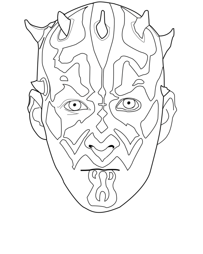 Darth Maul Coloring Page (With images) Coloring pages