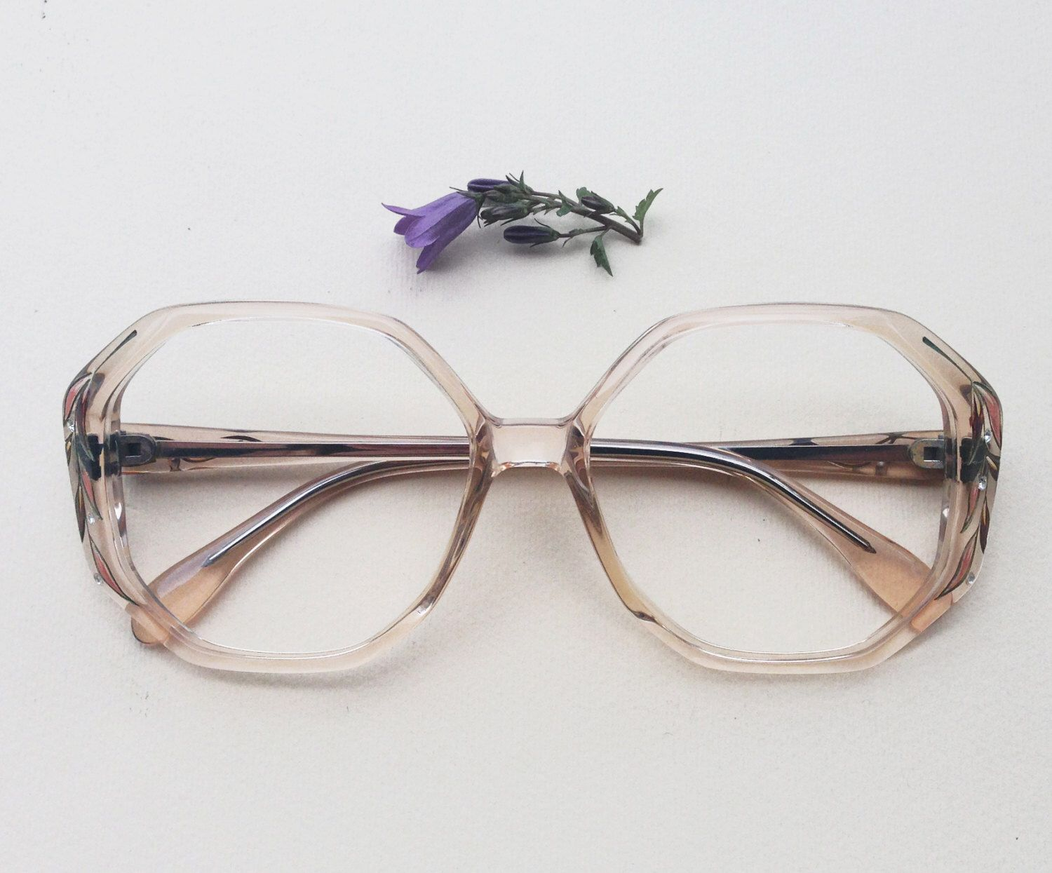 70s French eyeglasses with rhinestones / Vintage deadstock hand ...
