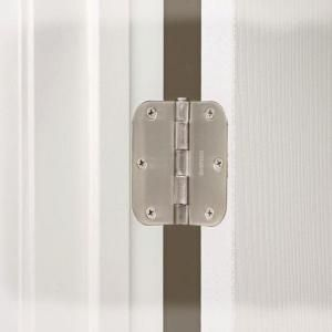 Everbilt 3 1 2 In X 5 8 In Radius Satin Nickel Door Hinge Value Pack 12 Per Pack 16909 Door Hinges Satin Nickel Interior Door Hinges