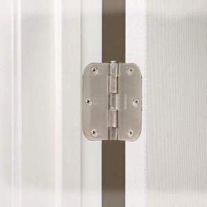 Everbilt 3 1 2 In X 5 8 In Radius Satin Nickel Door Hinge Value Pack 12 Per Pack 16909 Door Hinges Satin Nickel Interior Door Hinges