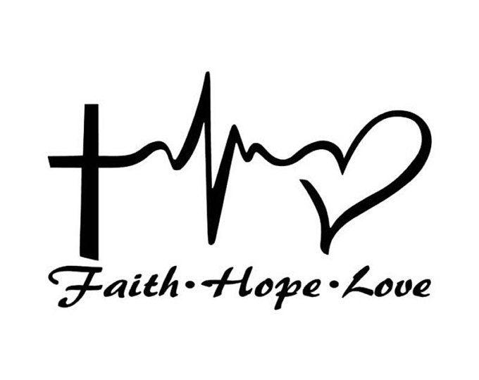 Love Hope Cancer awareness Car Window Decal Truck Laptop Vinyl Sticker Faith