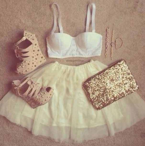 skirt shoes beautiful summer outfits cute perfect high heels tank ...