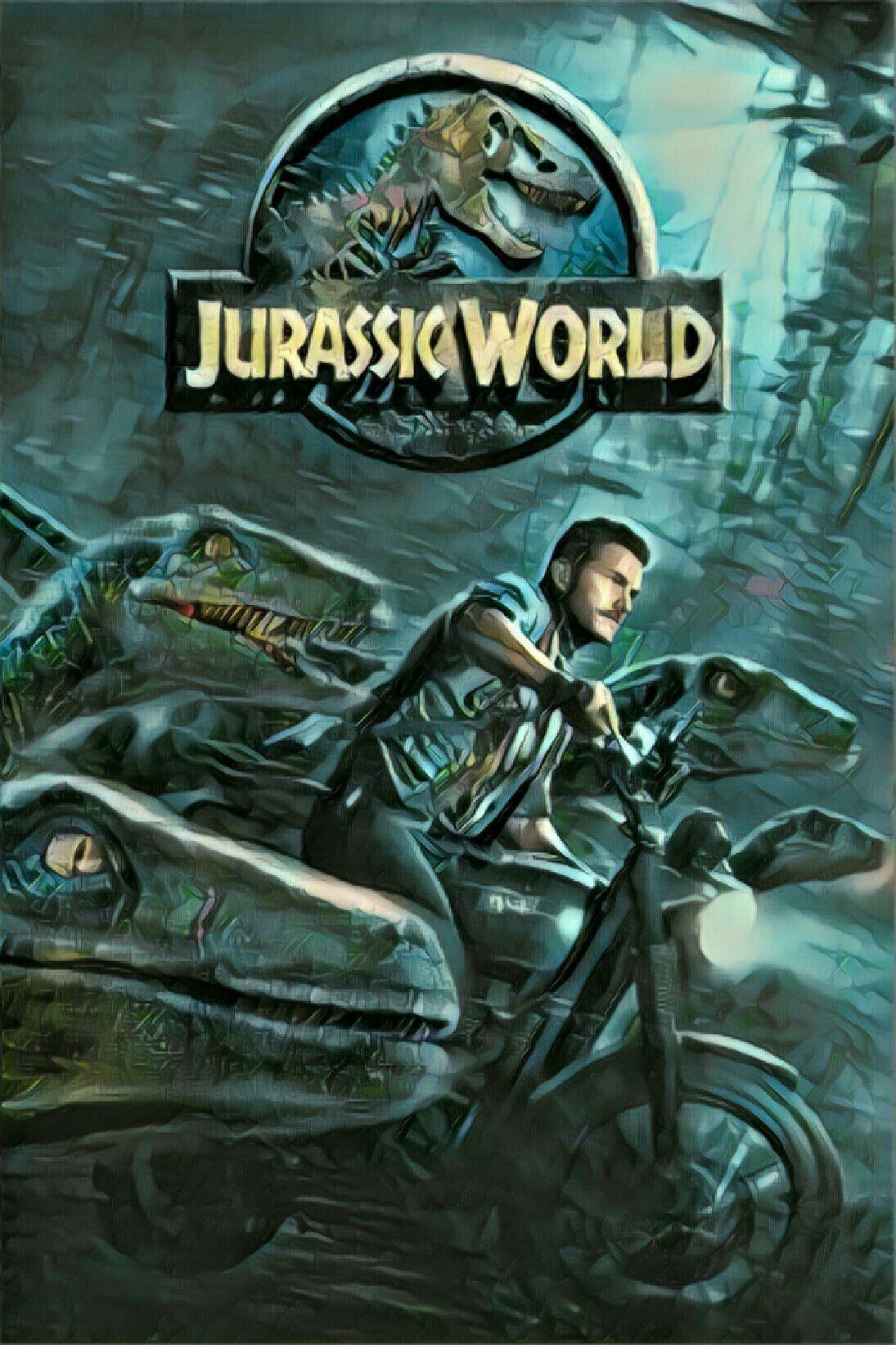 Jurassic World Movie Poster Cartoon Versions Of Movie Posters