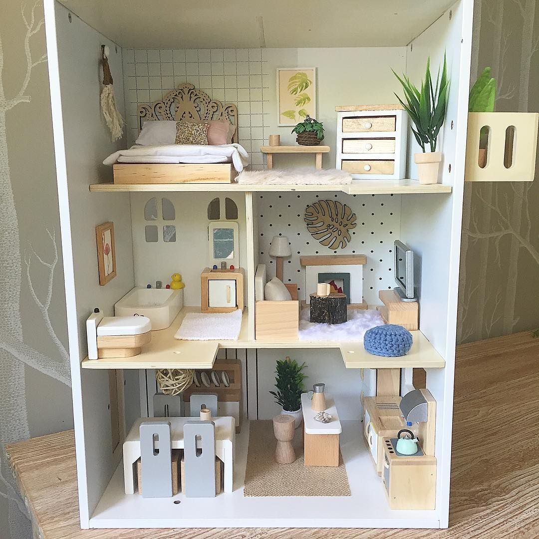 New Doll House Toy Miniature Wooden Doll House Loft With: Heirloom Dollhouses. Bespoke Dollhouse Furniture, Bedding