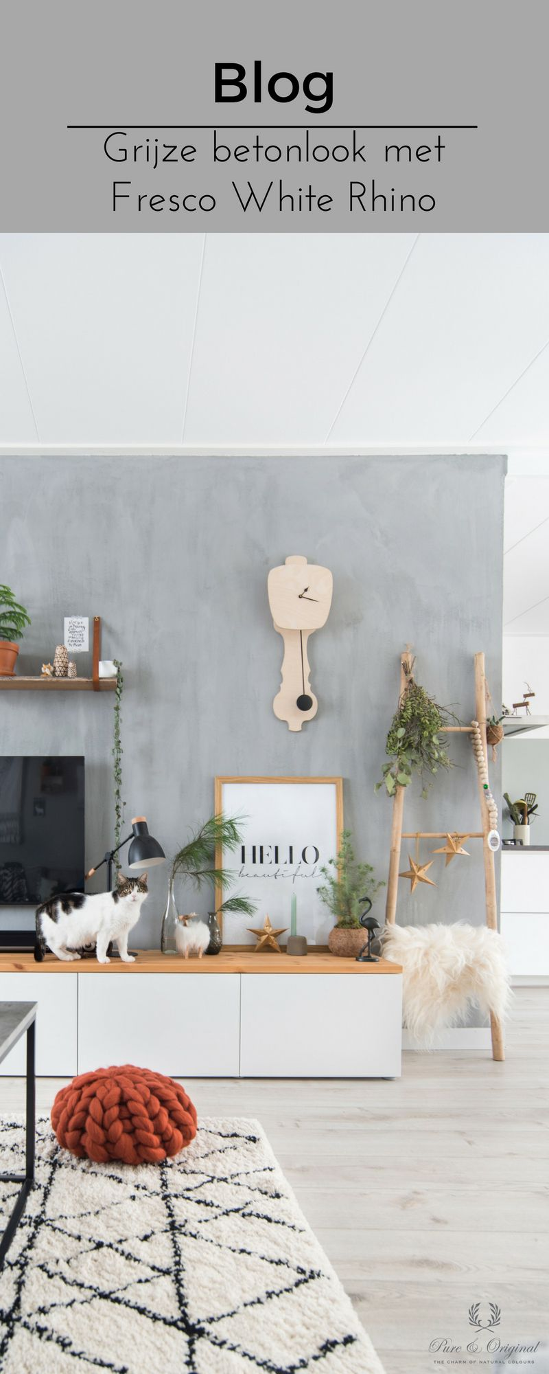 Betonlook Maken Jungle Betonlook In De Woonkamer In 2019 Blog Pure Original