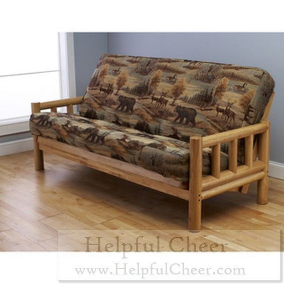 Aspen Lodge Natural Futon Frame And Full Size Mattress Set Products Pinterest
