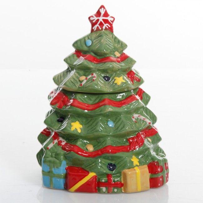 Gibson Home Mirthful Treats 7.9in Christmas Tree Cookie Jar ...