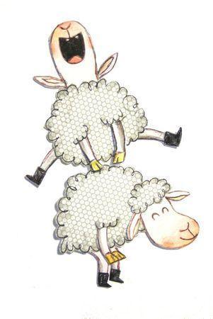 Moutons c cile hudrisier my work mes illustrations - Dessin mouton rigolo ...