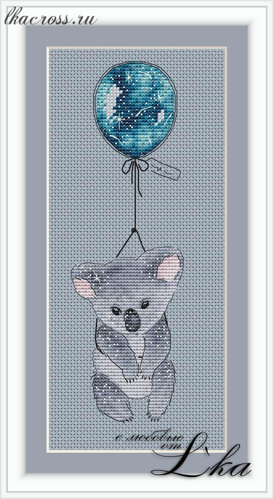 Схема для вышивки коала