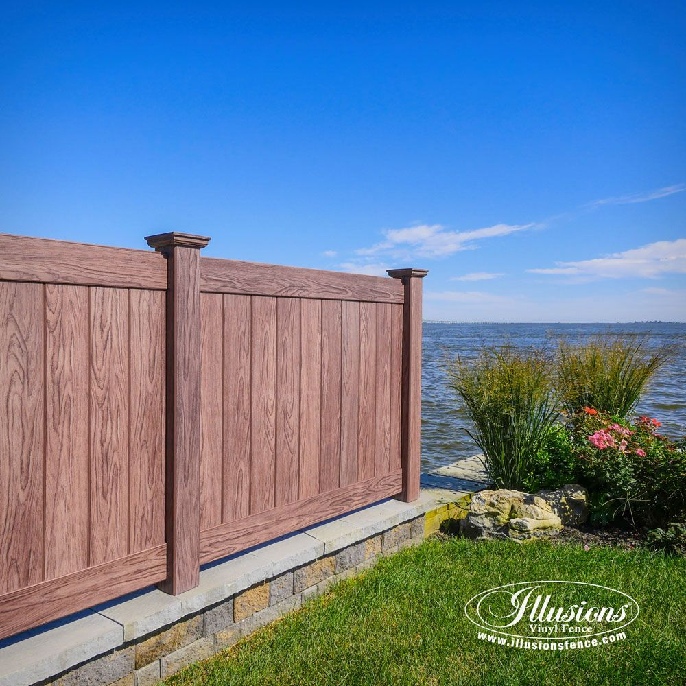 Gorgeous Illusions Walnut PVC Vinyl Fence Pvc Vinyl