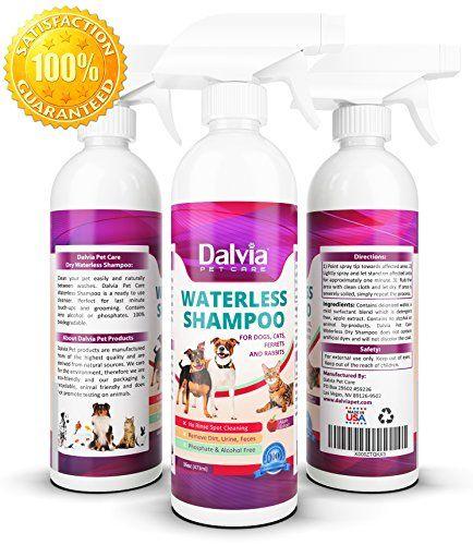 Dalvia Pet Care No Rinse Dry Shampoo For Dogs Waterless Dog Shampoo Perfect Alternative To Dry Dog Shampoo Pow Dry Dog Shampoo Dog Shampoo Shampoo Powder