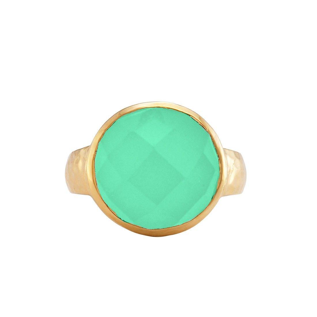 Kalena Ring Gold Chrysoprase - Rings - Shop   Melinda Maria Jewelry