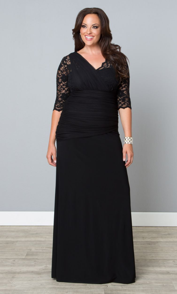 Plussize black gown at curvalicious clothes bbw curvy