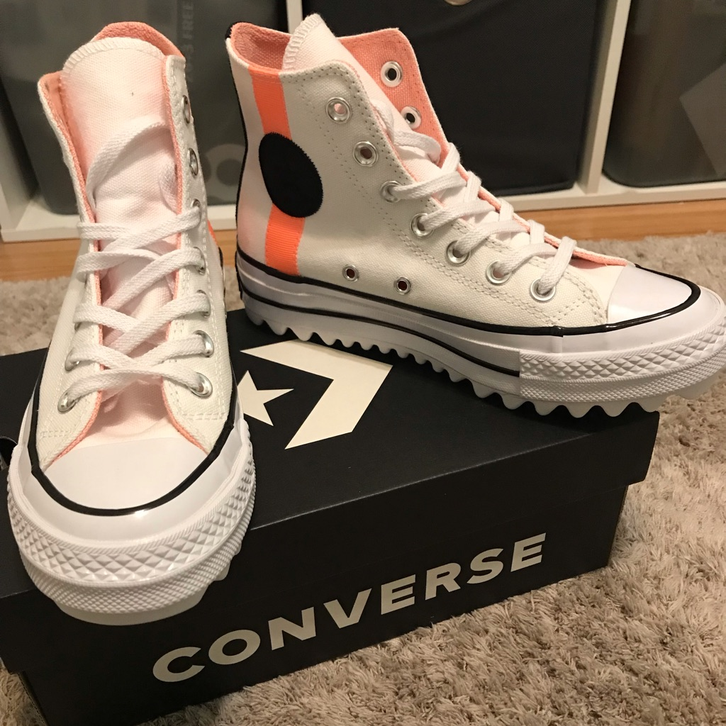Converse Shoes Converse White Hi Top With Ripple Sole  Converse White Hi Top With Ripple Sole