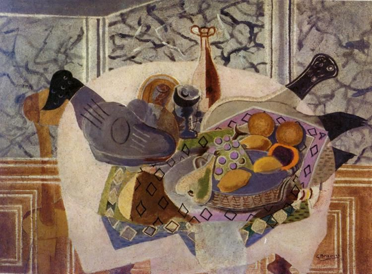 Georges Braque, The Purple Tablecloth