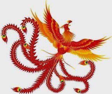 Vermillion Bird Tattoo