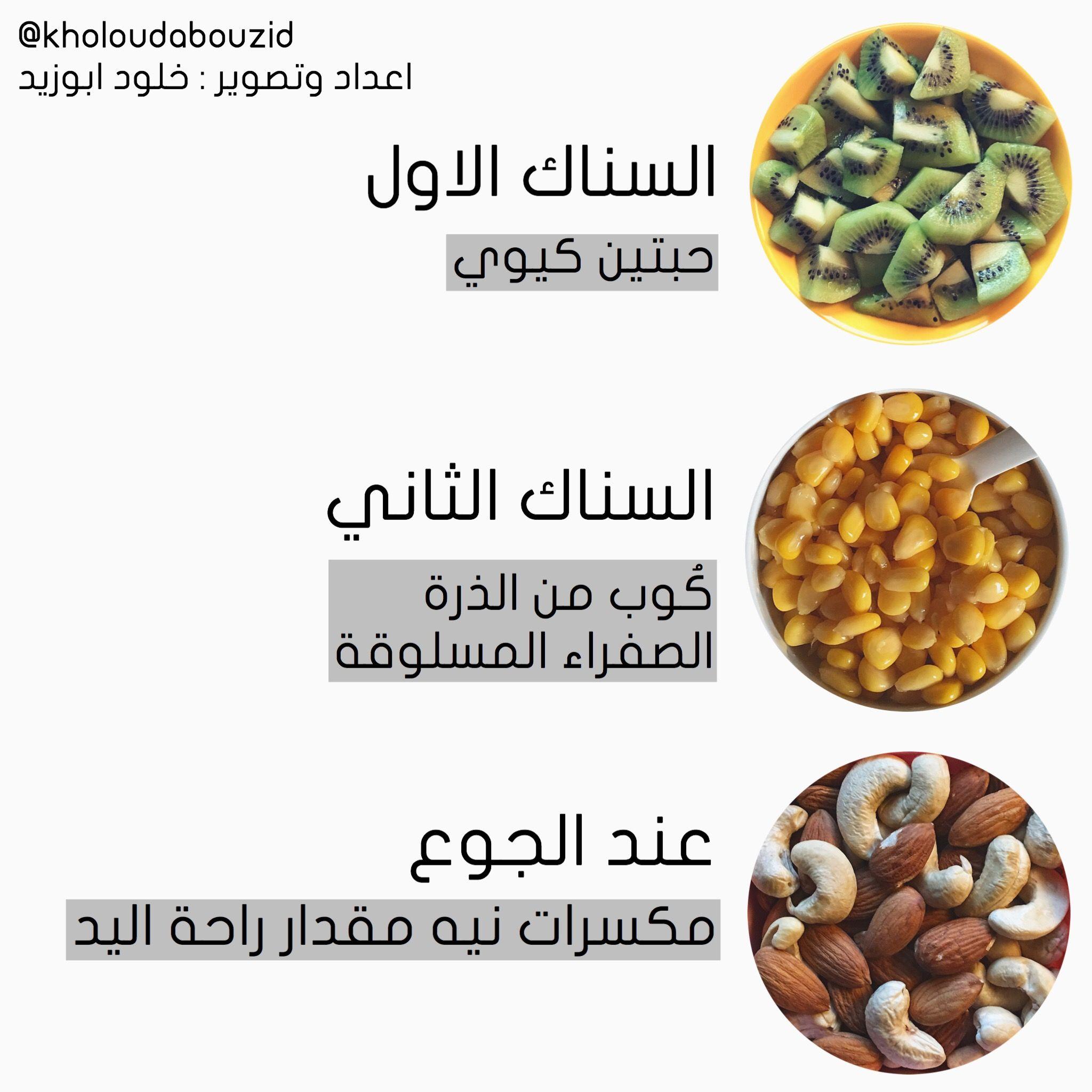 نظام دايت صحي ١٣٠٠ سعر حراري خلود ابوزيد Health Fitness Food Health Facts Food Healthy Breakfast Recipes