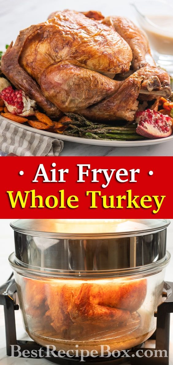 Air Fried Whole Turkey Recipe in Air Fryer JUICY Oil Less