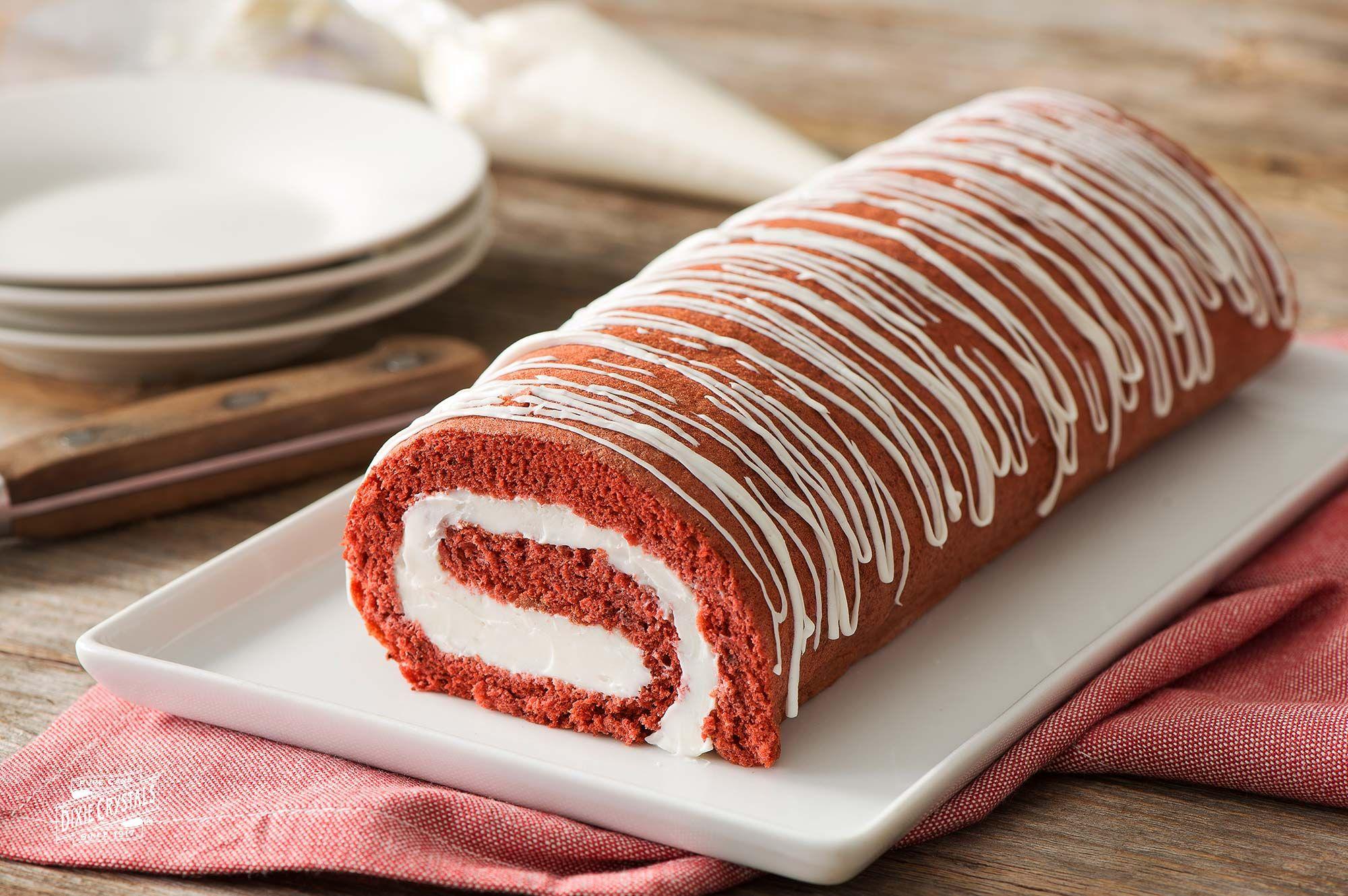 Red Velvet Cake Roll Dixie Crystals Red Velvet Cake Roll Cake Roll Cake Roll Recipes