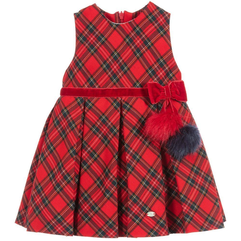 e731ad45b Baby Girls Red Tartan Dress for Girl by Piccola Speranza. Discover ...