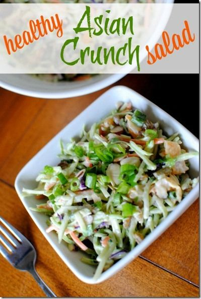 Healthy Asian Crunch Salad by pbfingers.com