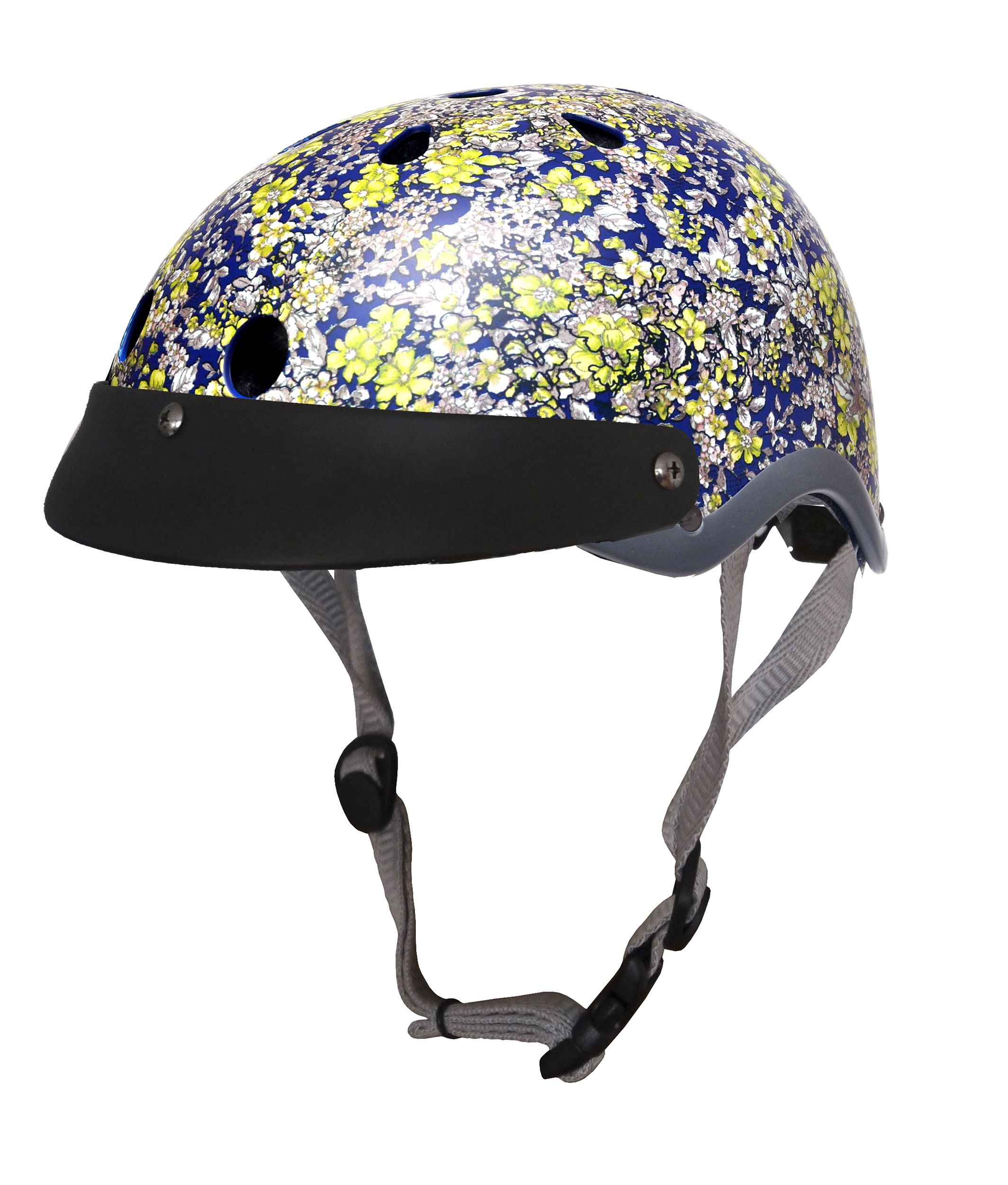 Sawako Furuno Floral Midnight Blue Helmet Bald With Elegance