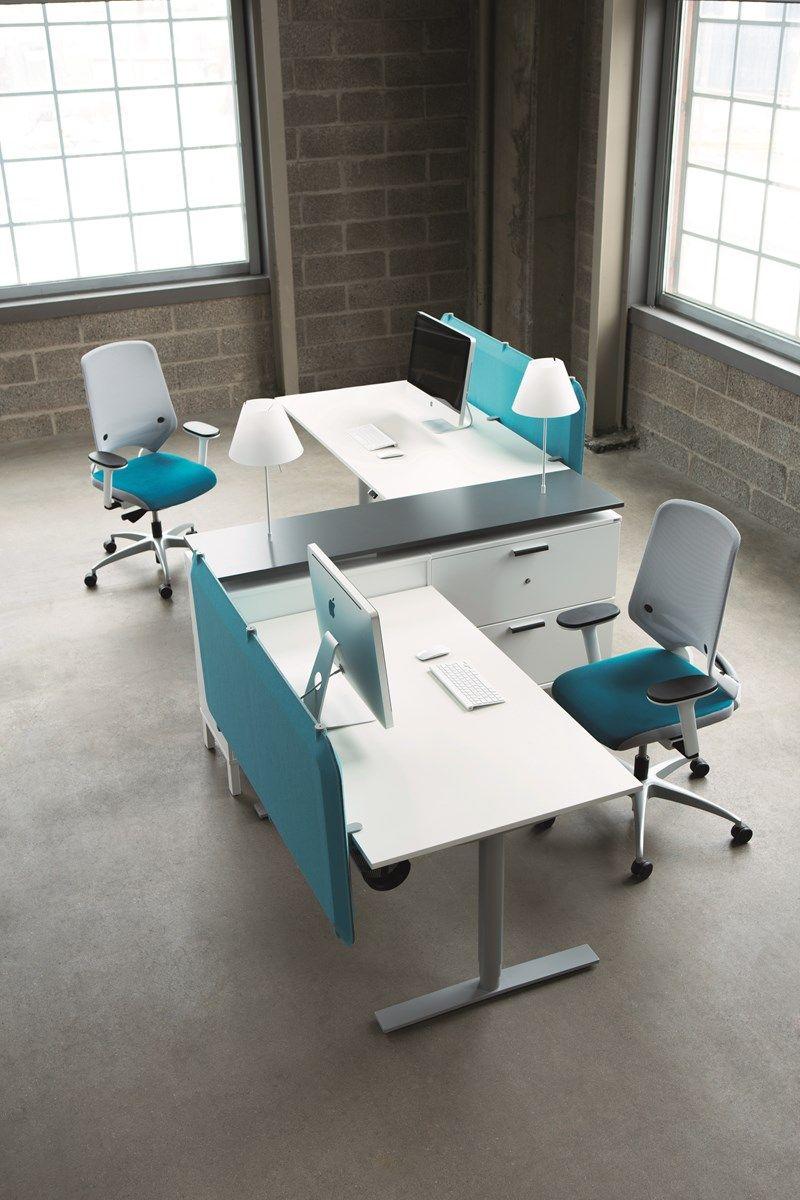 Oberon desks office furniture kinnarps 2 for Disenos de escritorios para oficina