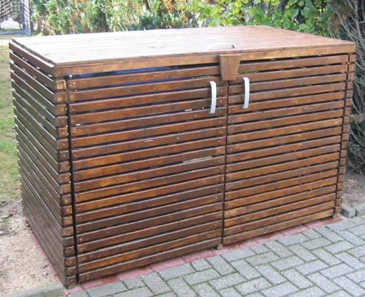 Mulltonnen Versteckt Mullplatz Mit Holz Garten Pinterest