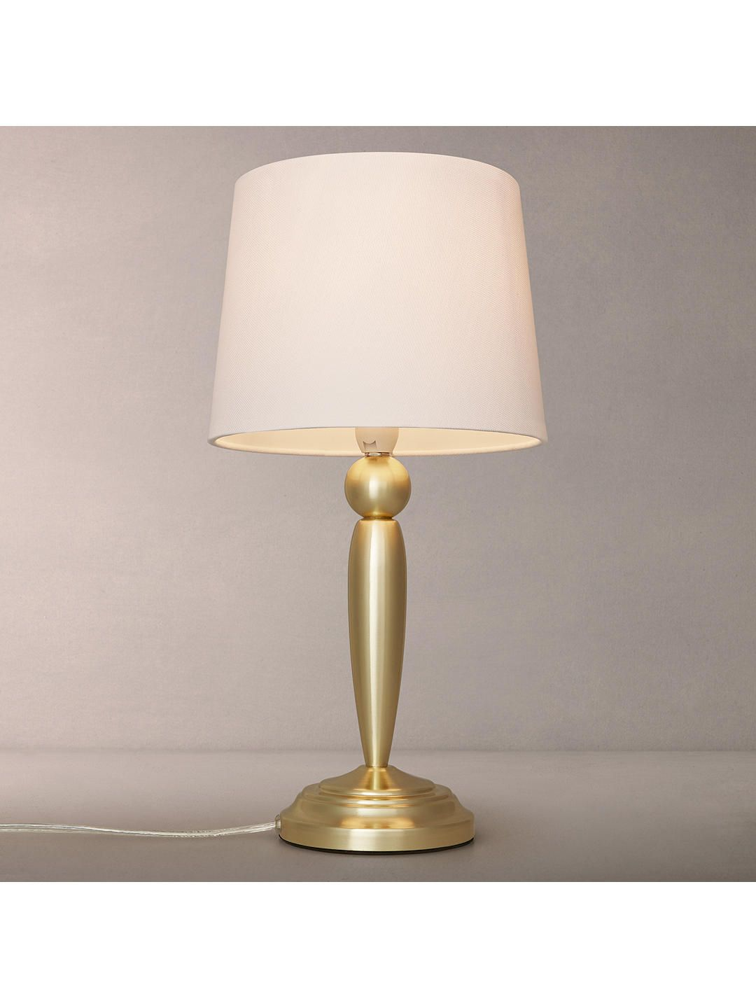 John Lewis Partners Andreya Touch Table Lamp Antique Brass Touch Table Lamps Lamp Table Lamp