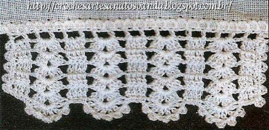 Bicos Diversos Para Panos De Prato Com Graficos Fazer Croche